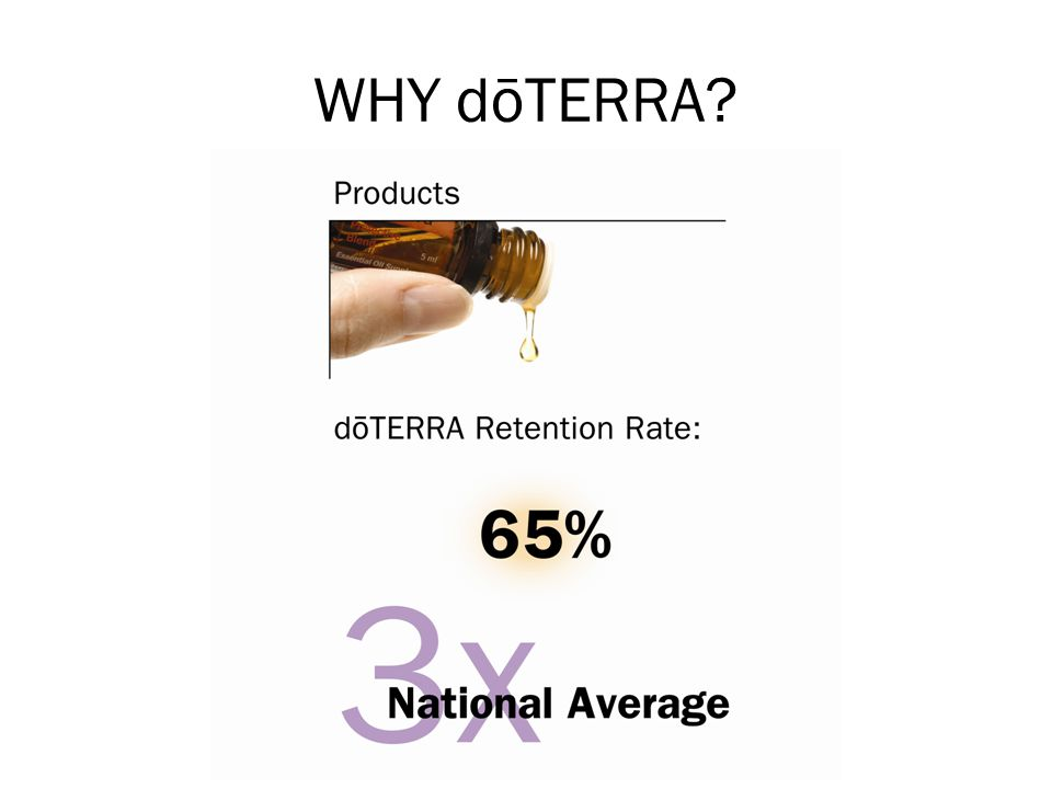 WHY dōTERRA Explain that one of the best ways to know if a product is good is if people continue to use it repeatedly.