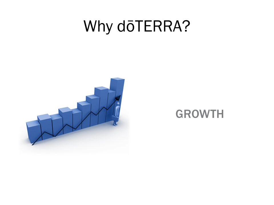 Why dōTERRA GROWTH A key aspect to successfully working with a company is growth and timing.