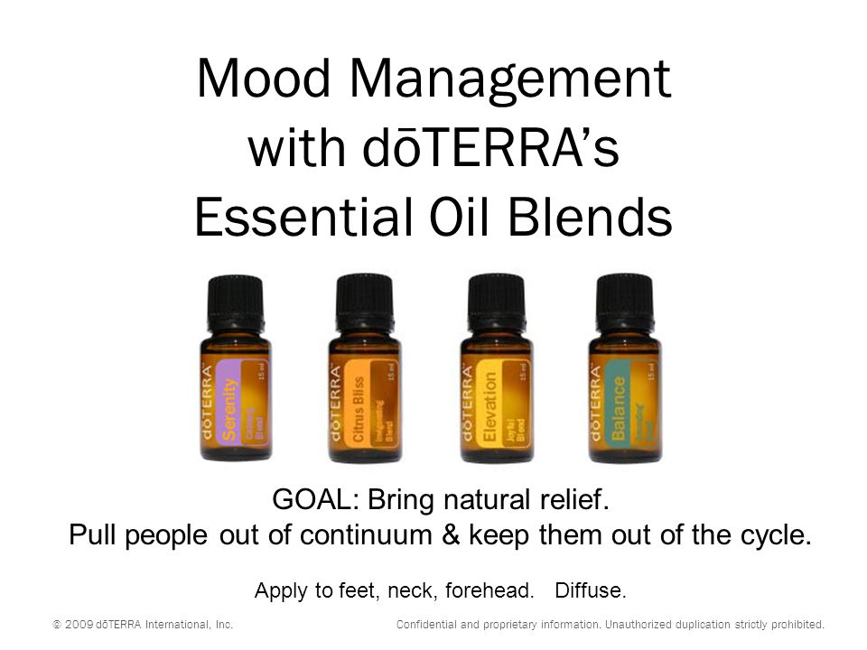 Mood Management with dōTERRA's Essential Oil Blends