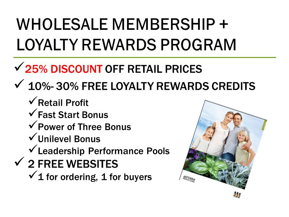 WHOLESALE MEMBERSHIP + LOYALTY REWARDS PROGRAM