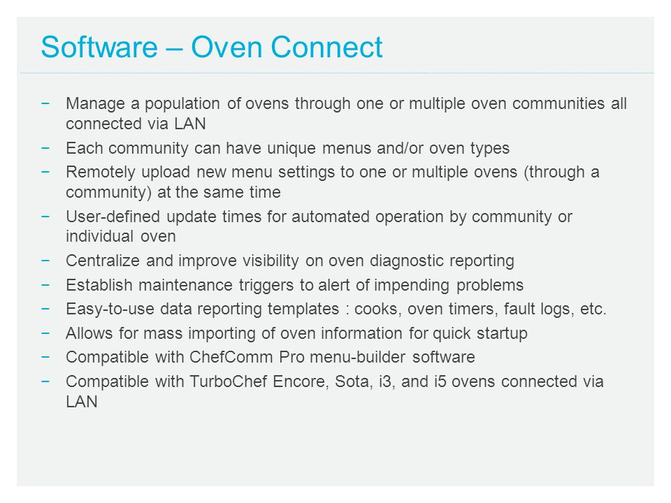 Software – Oven Connect