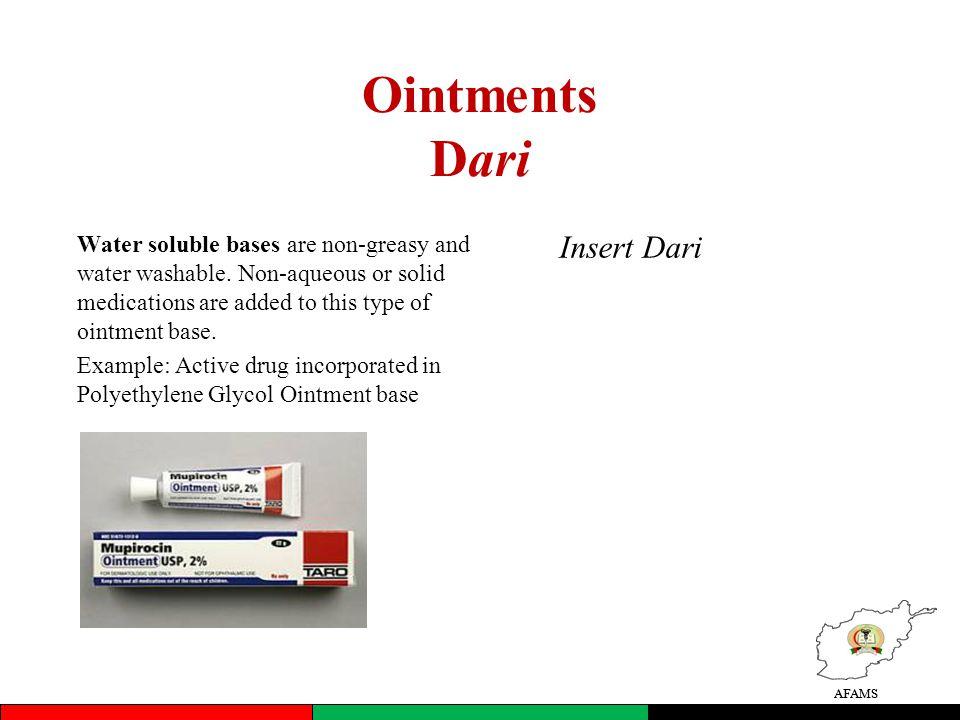 Ointments Dari Insert Dari
