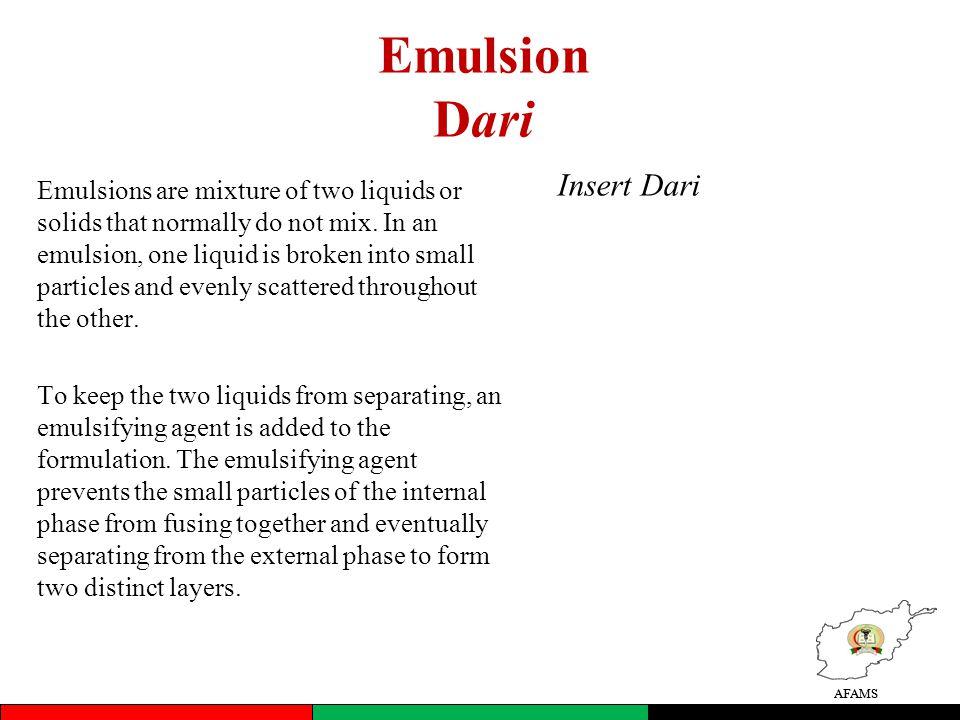 Emulsion Dari Insert Dari