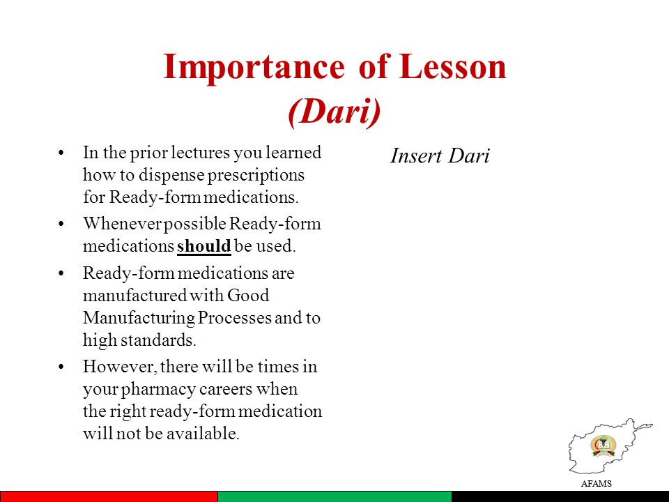 Importance of Lesson (Dari)