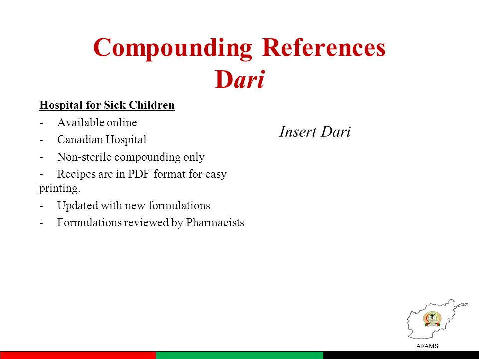 Compounding References Dari