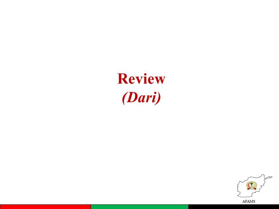 Review (Dari) AFAMS