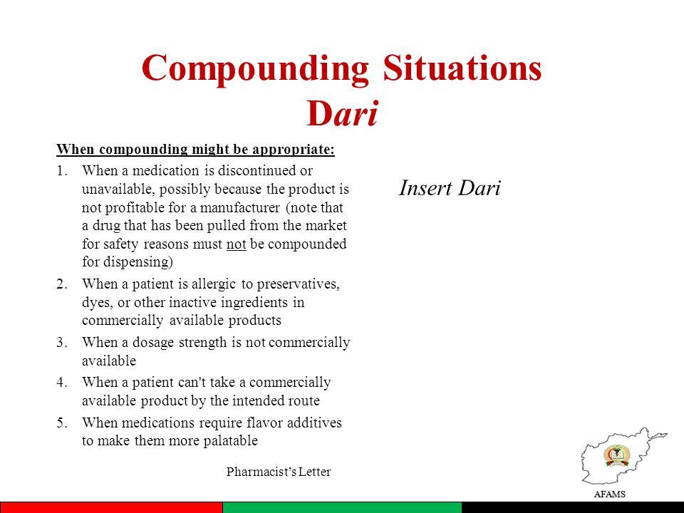 Compounding Situations Dari