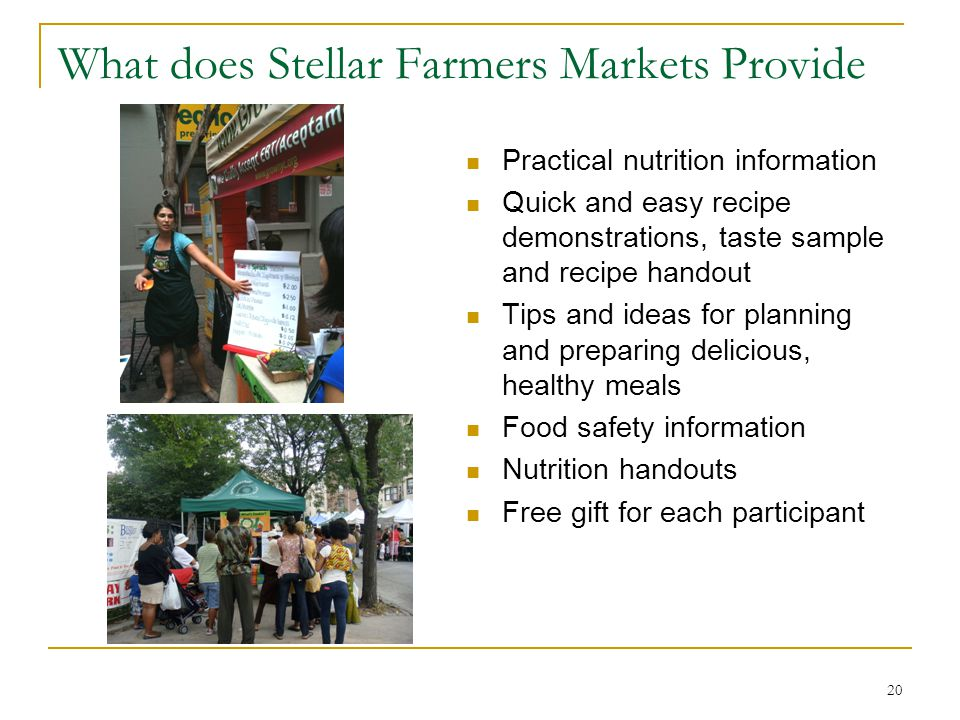 What does Stellar Farmers Markets Provide