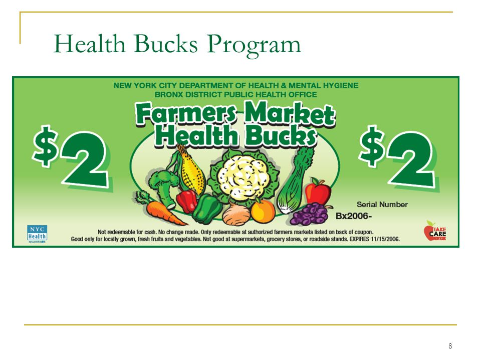 Health Bucks Program