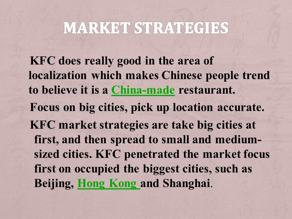 Market Strategies