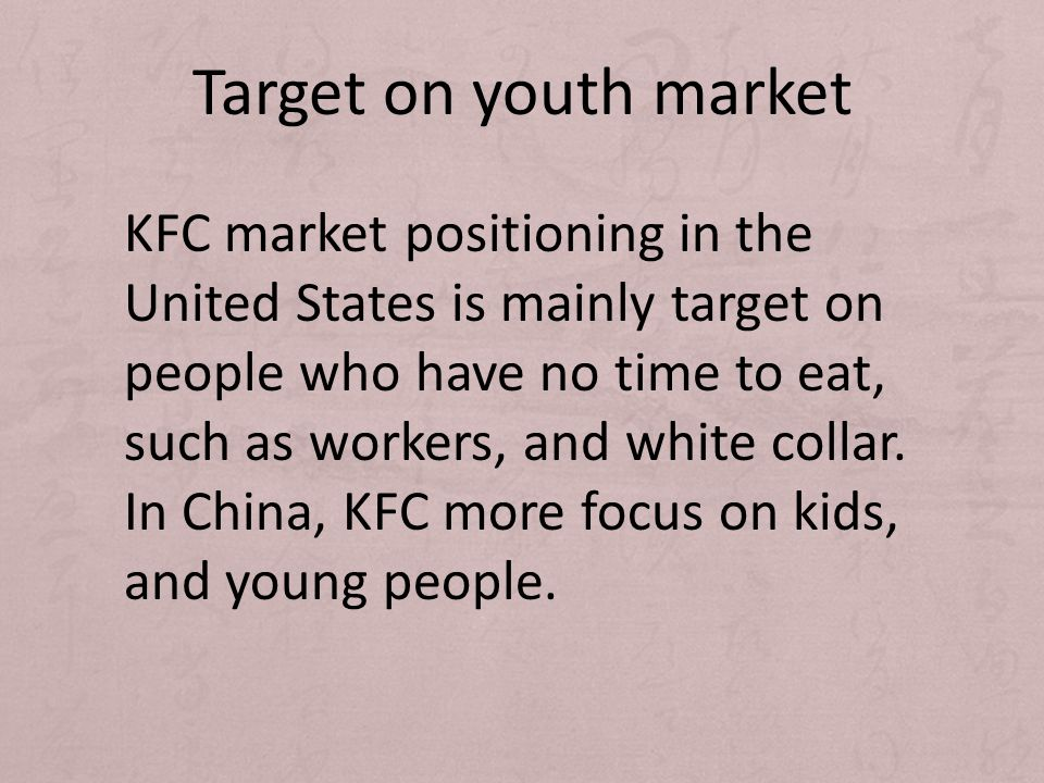 Target on youth market