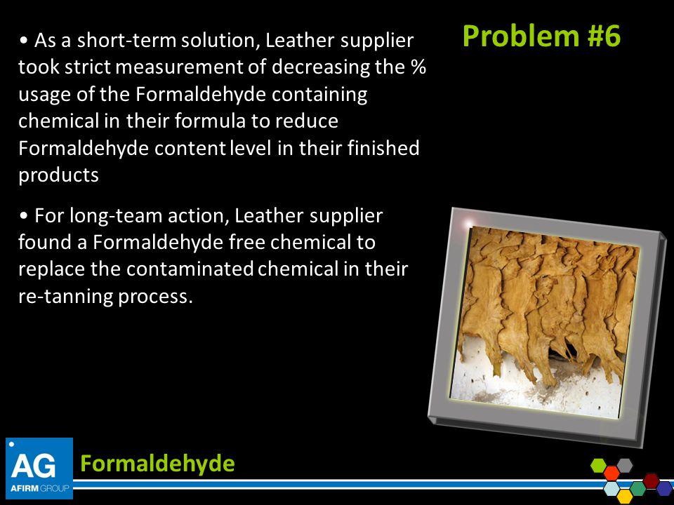 Problem #6 Formaldehyde