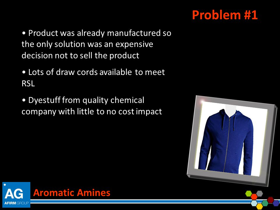 Problem #1 Aromatic Amines