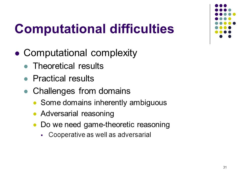 Computational difficulties