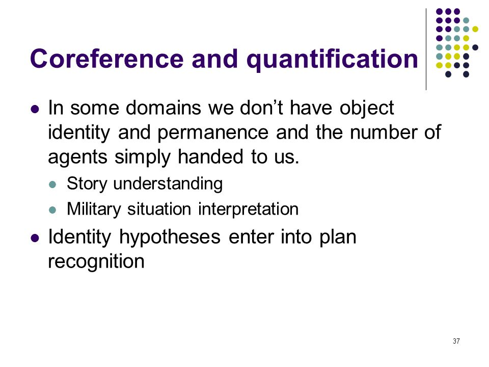 Coreference and quantification