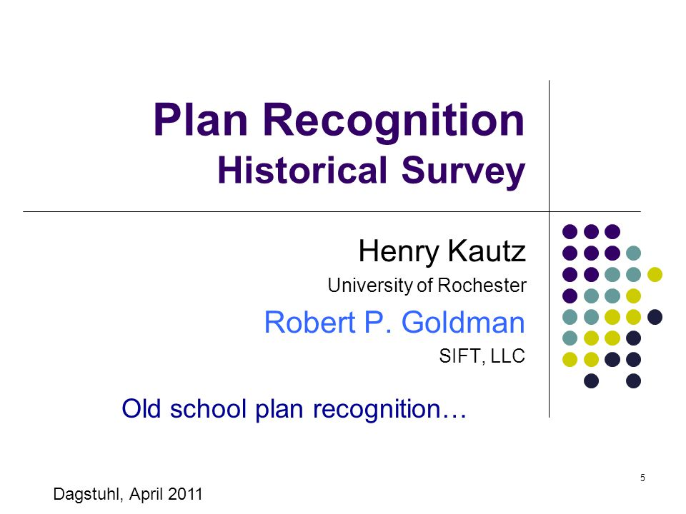 Plan Recognition Historical Survey
