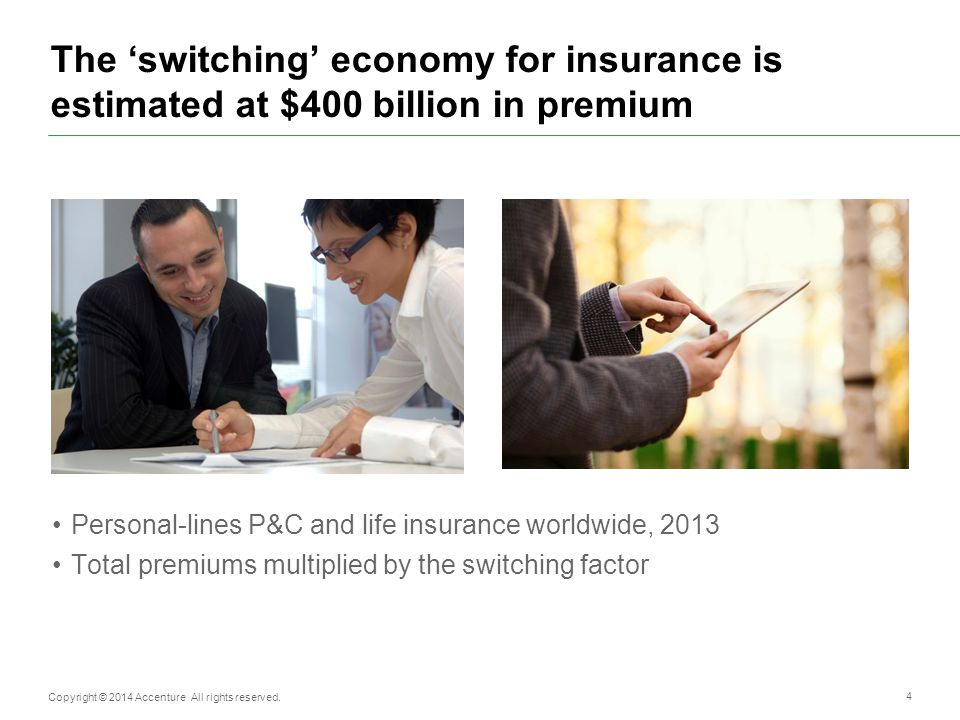 The 'switching' economy for insurance is estimated at $400 billion in premium