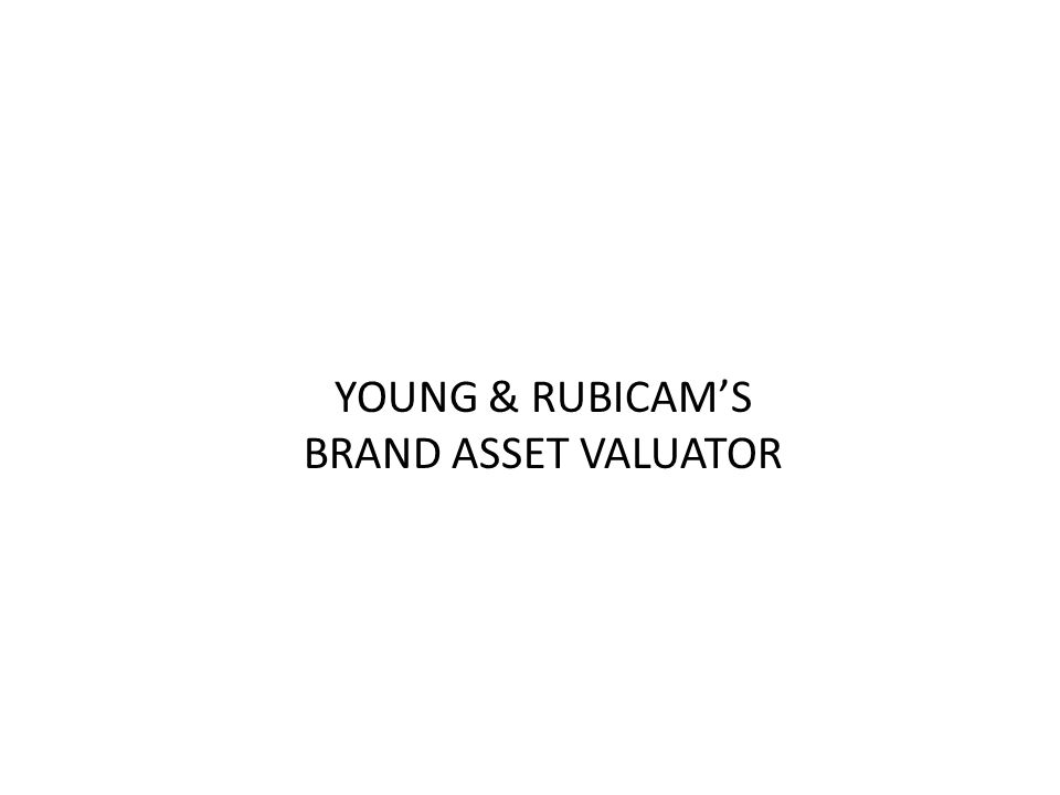 YOUNG & RUBICAM'S BRAND ASSET VALUATOR
