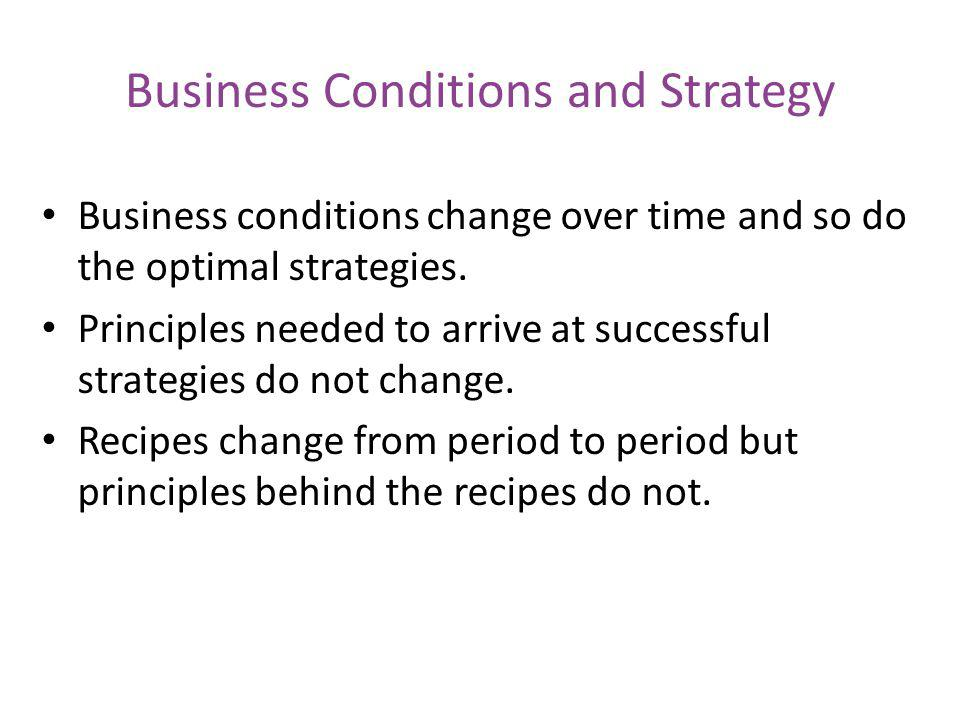 Business Conditions and Strategy