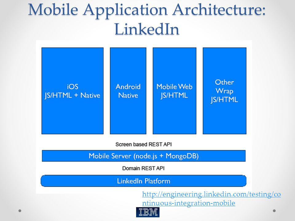 Mobile Application Architecture: LinkedIn