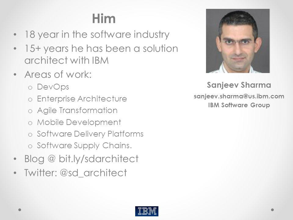 Him 18 year in the software industry