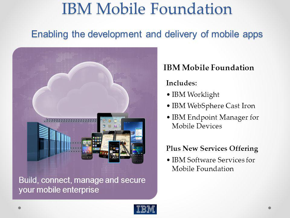IBM Mobile Foundation Enabling the development and delivery of mobile apps