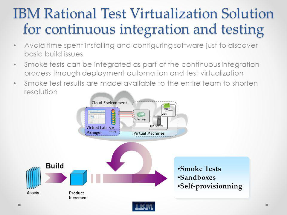 IBM Rational Test Virtualization Solution for continuous integration and testing