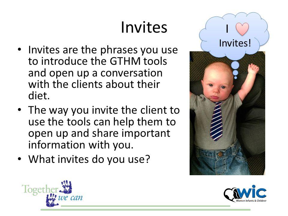 Invites I . Invites!