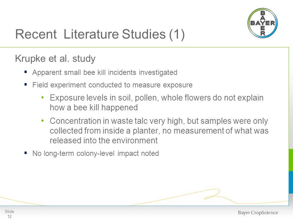 Recent Literature Studies (2)