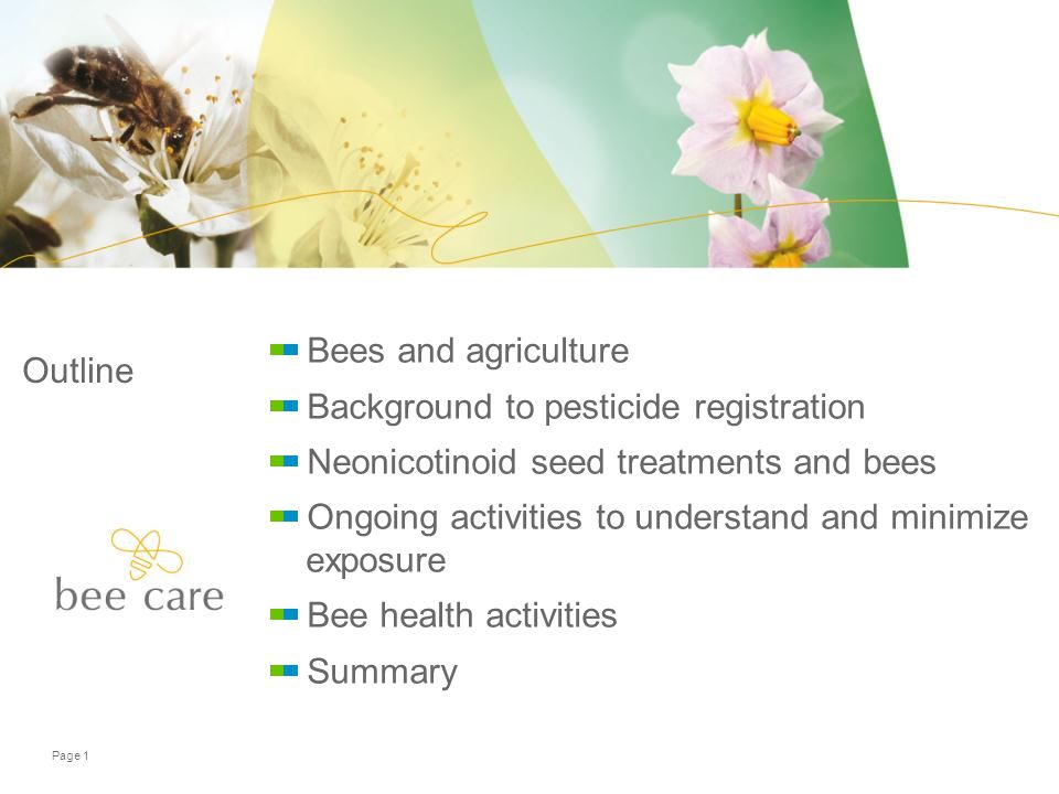 Need for Crop Protection Products and Pollinators
