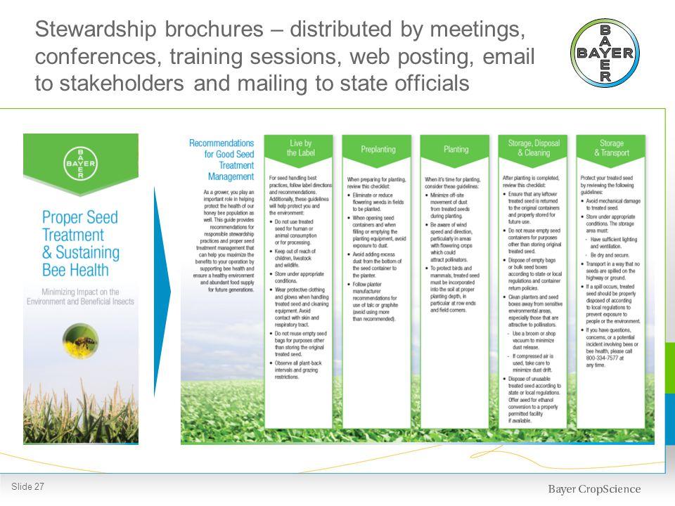 Successful stewardship involves multiple stakeholders