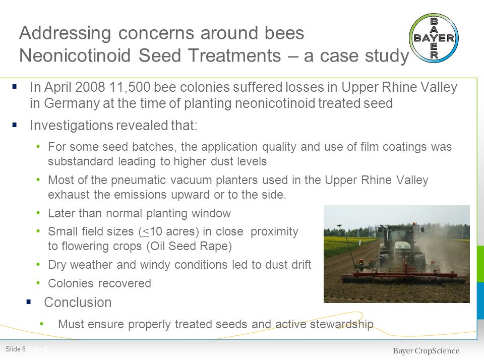 Neonicotinoid Seed Treatment - risks and benefits