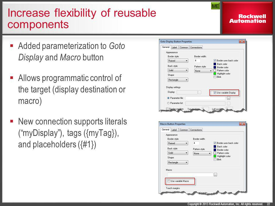 Increase flexibility of reusable components