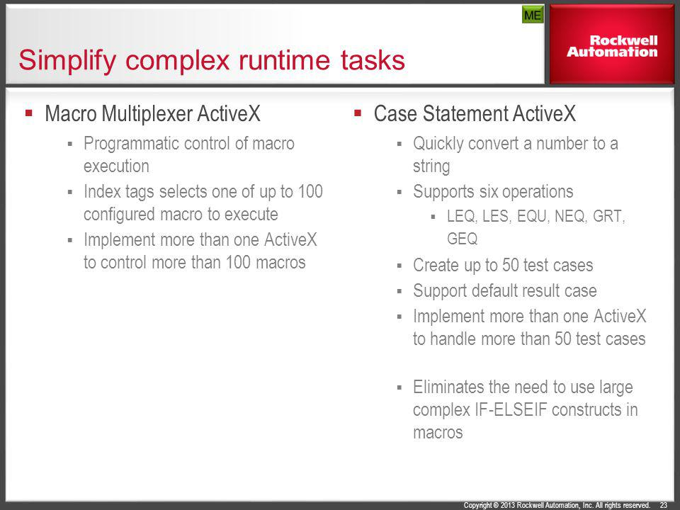 Simplify complex runtime tasks