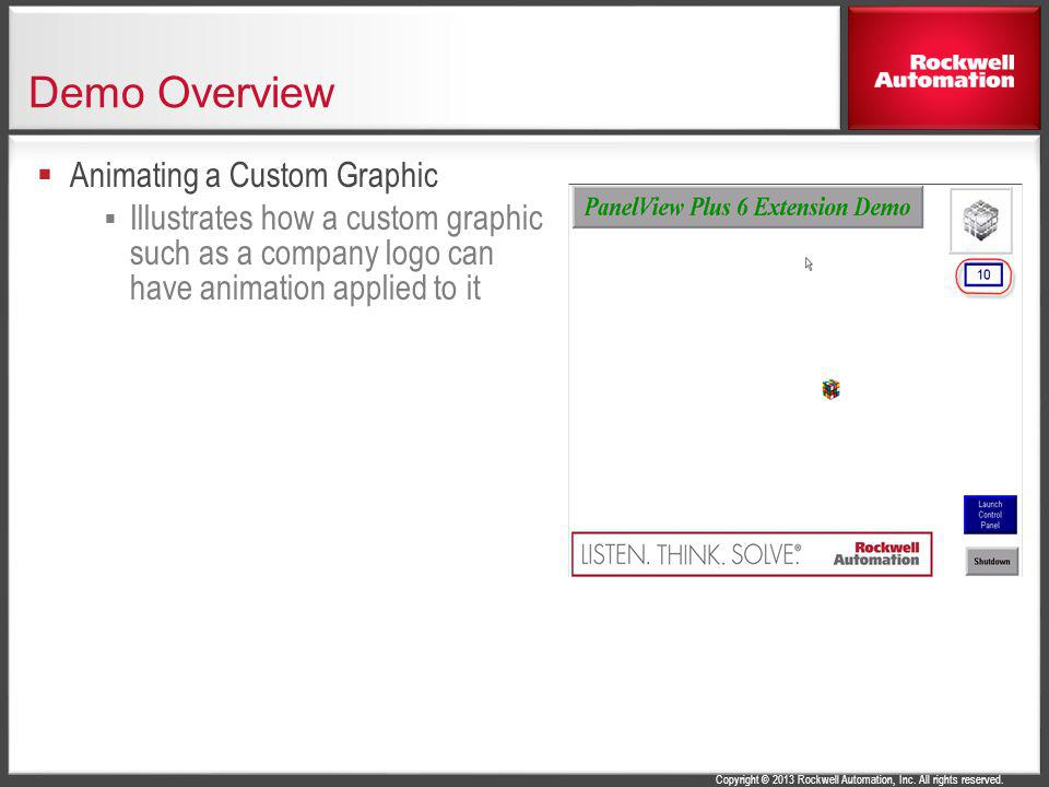 Demo Overview Animating a Custom Graphic