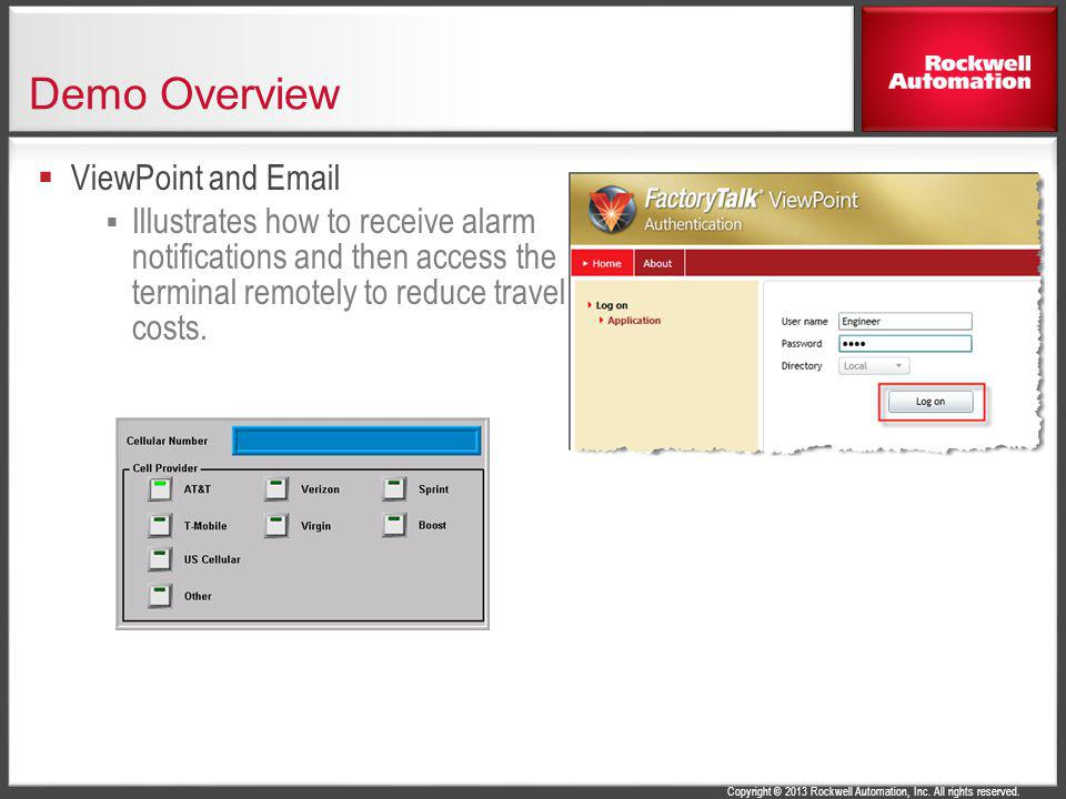Demo Overview ViewPoint and Email