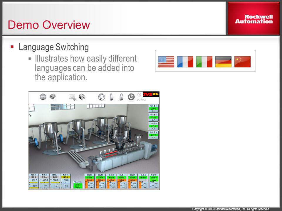 Demo Overview Language Switching