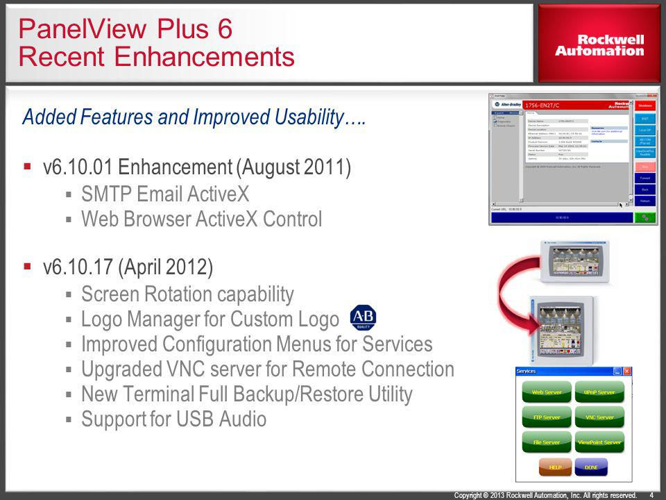 PanelView Plus 6 Recent Enhancements