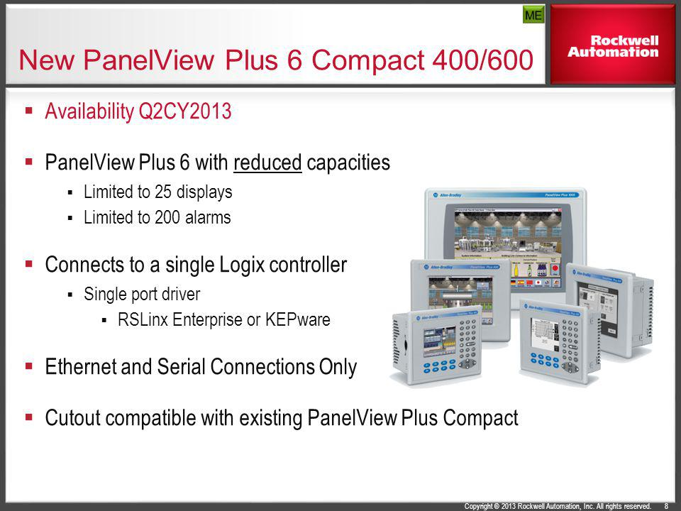 New PanelView Plus 6 Compact 400/600