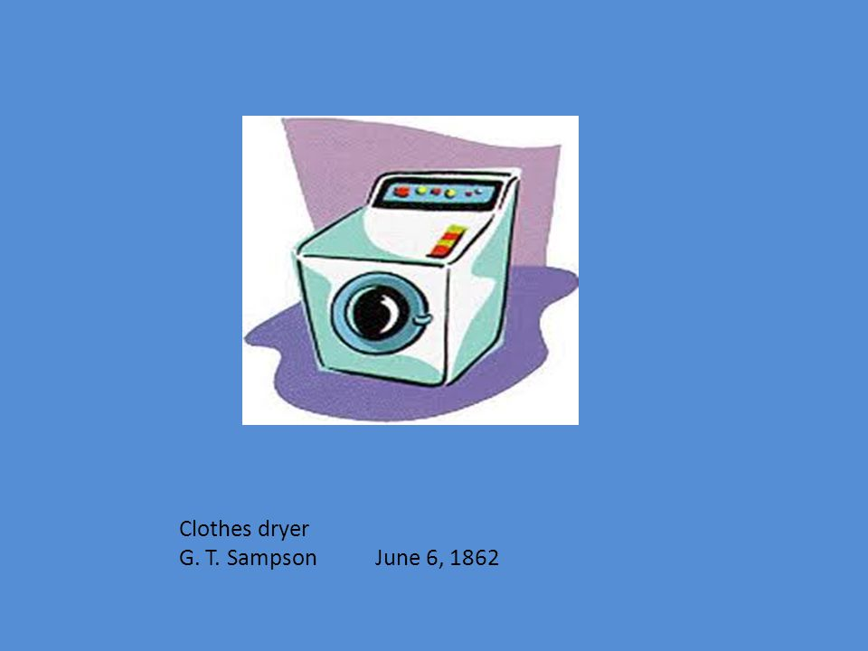 Clothes dryer G. T. Sampson June 6, 1862