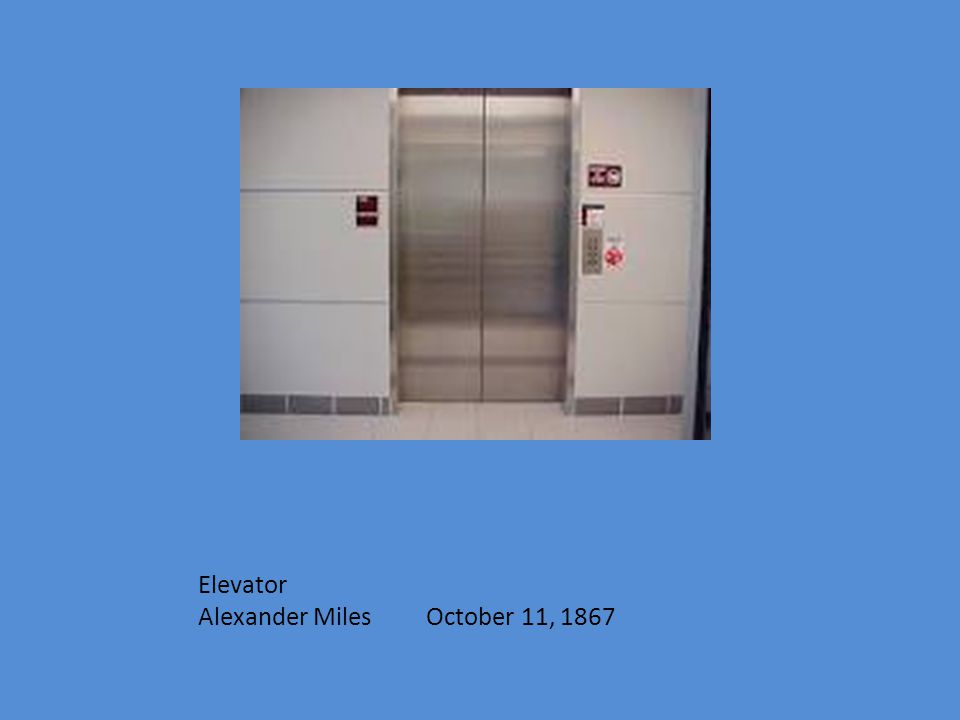 Elevator Alexander Miles October 11, 1867