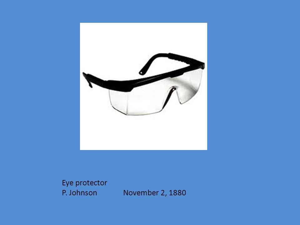 Eye protector P. Johnson November 2, 1880