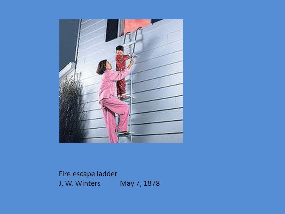Fire escape ladder J. W. Winters May 7, 1878