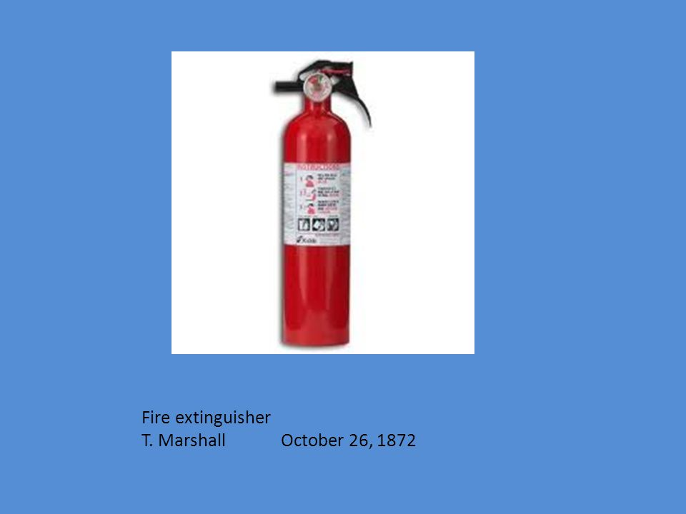 Fire extinguisher T. Marshall October 26, 1872