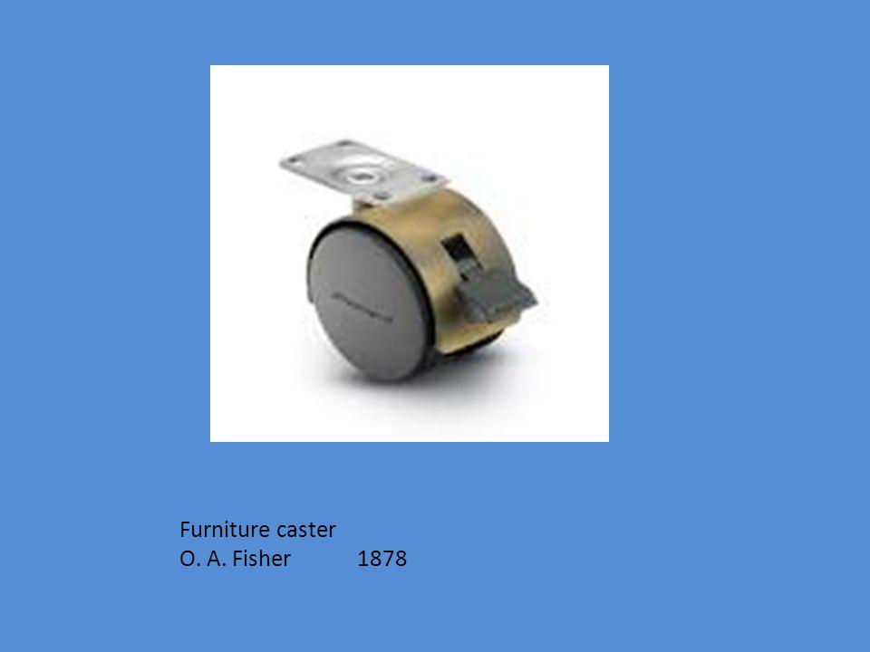 Furniture caster O. A. Fisher 1878
