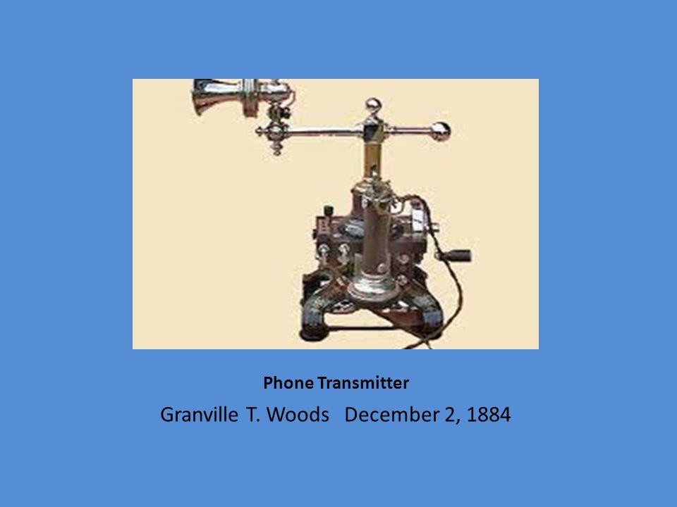 Granville T. Woods December 2, 1884