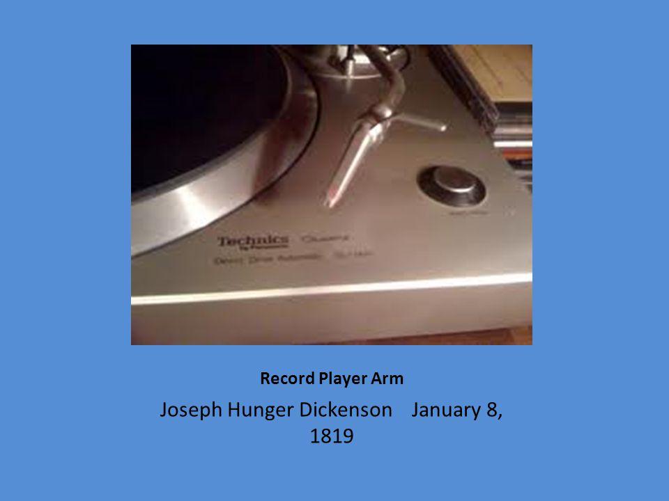 Joseph Hunger Dickenson January 8, 1819