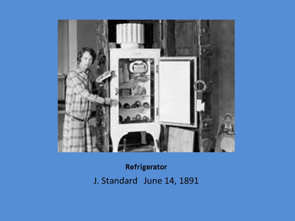 Refrigerator J. Standard June 14, 1891