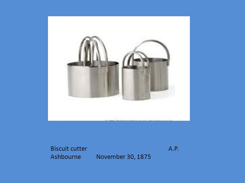 Biscuit cutter A.P. Ashbourne November 30, 1875