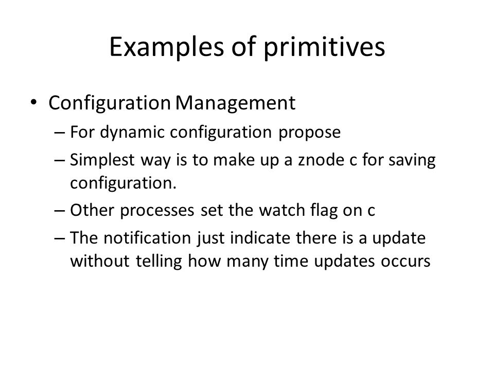 Examples of primitives